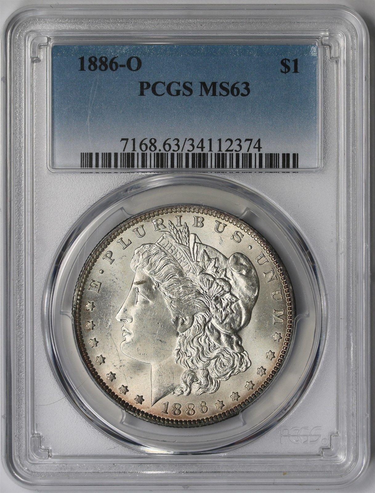 PCGS MS63 1886 US Morgan Silver Dollar $1