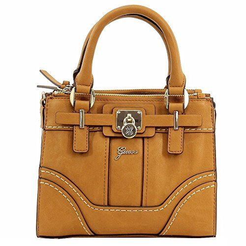 Guess Womens Greyson Mini Status Light Cognac Satchel Handbag ...