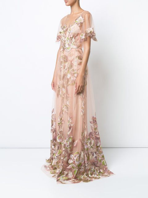 floral-embroidered gown   Wedding & Ball Gowns   Pinterest   Gowns ...