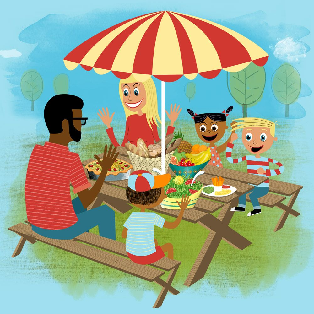 Family Picnic | Table | Still from retro 'H is For Healthy ...