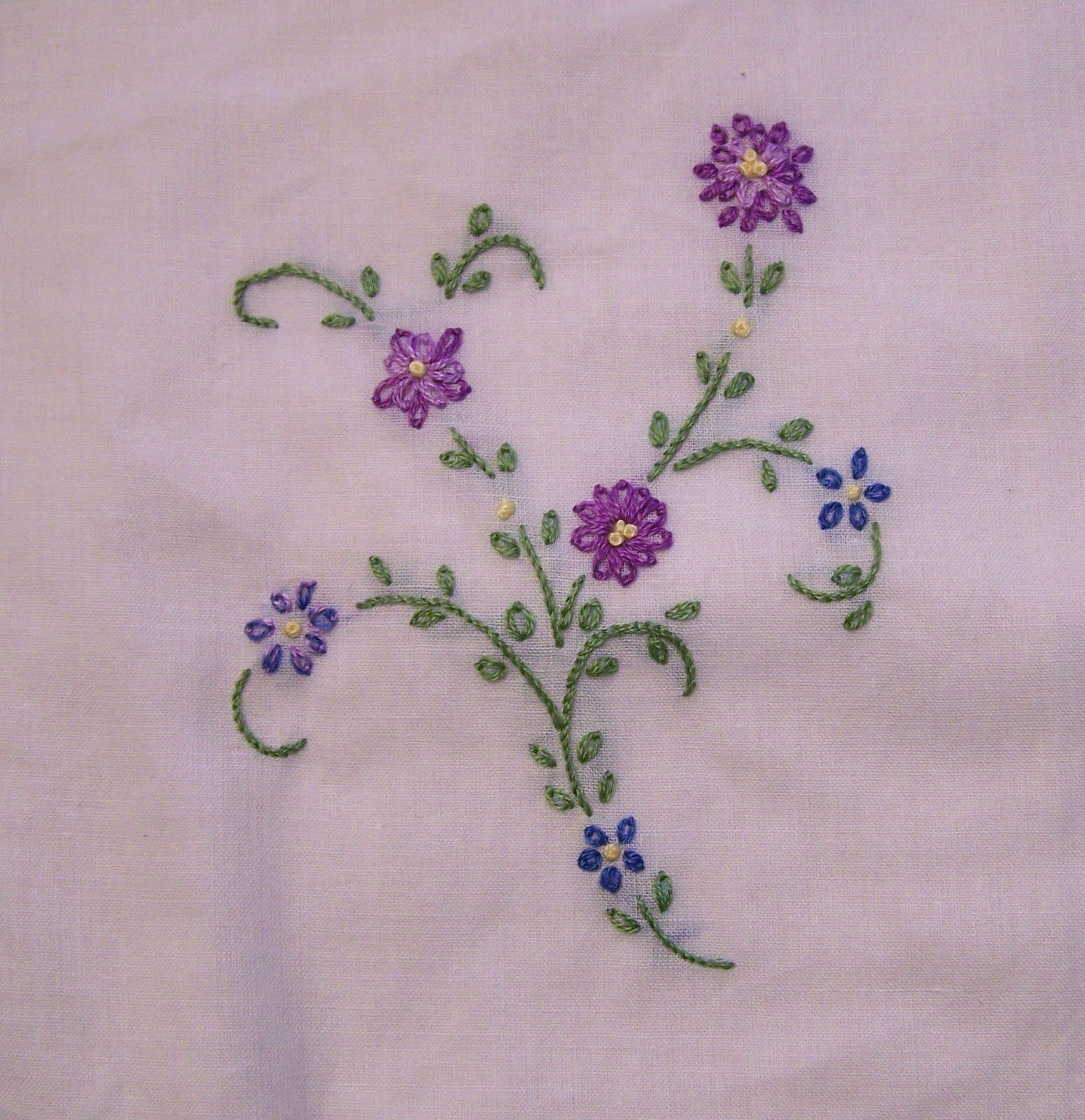 Embroidery stitches beginner sewing