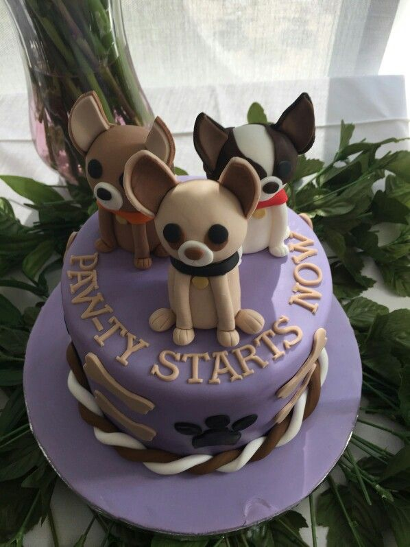 Chihuahua Cake Decorative Desserts Puppy Birthday