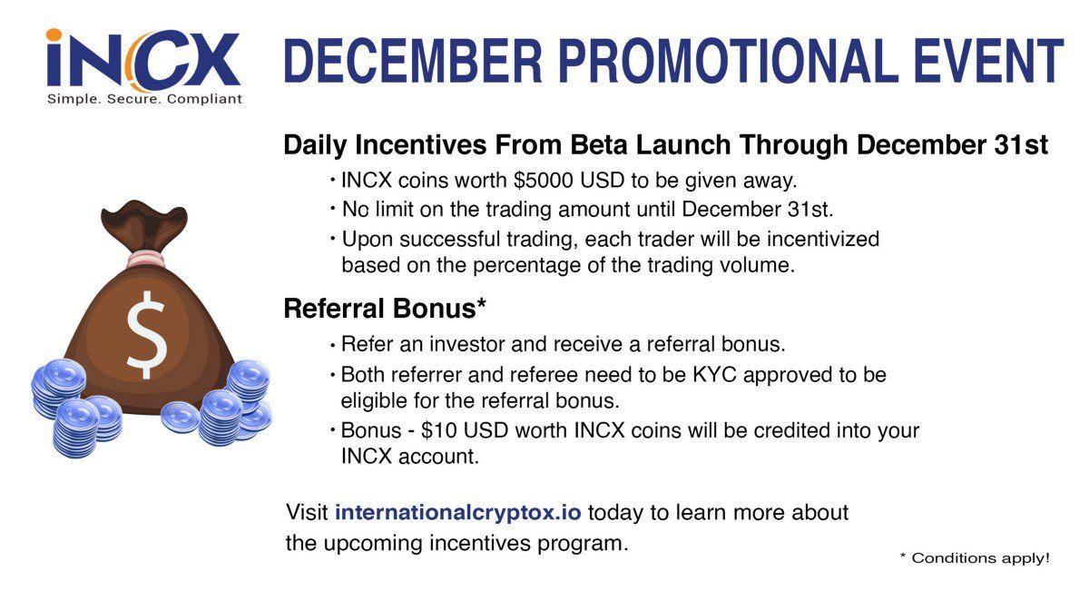 The Launch of INCX Crypto Exchange! bitcoin btc ico
