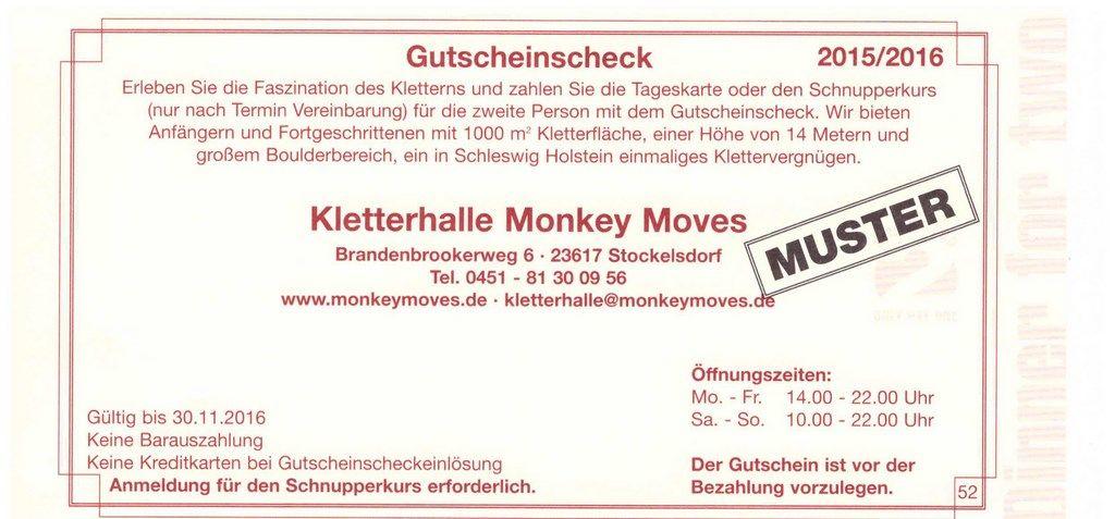 kletterhalle monkey moves l beck stockelsdorf gutschein essen gehen l beck dinner und dinner. Black Bedroom Furniture Sets. Home Design Ideas