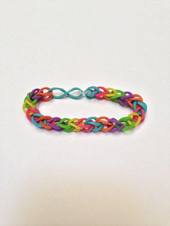 ...it was pretty cool! Summer '13 Grade: A Rubberband Bracelet - Rainbow Easy to make... Keeps kids bussssy!!