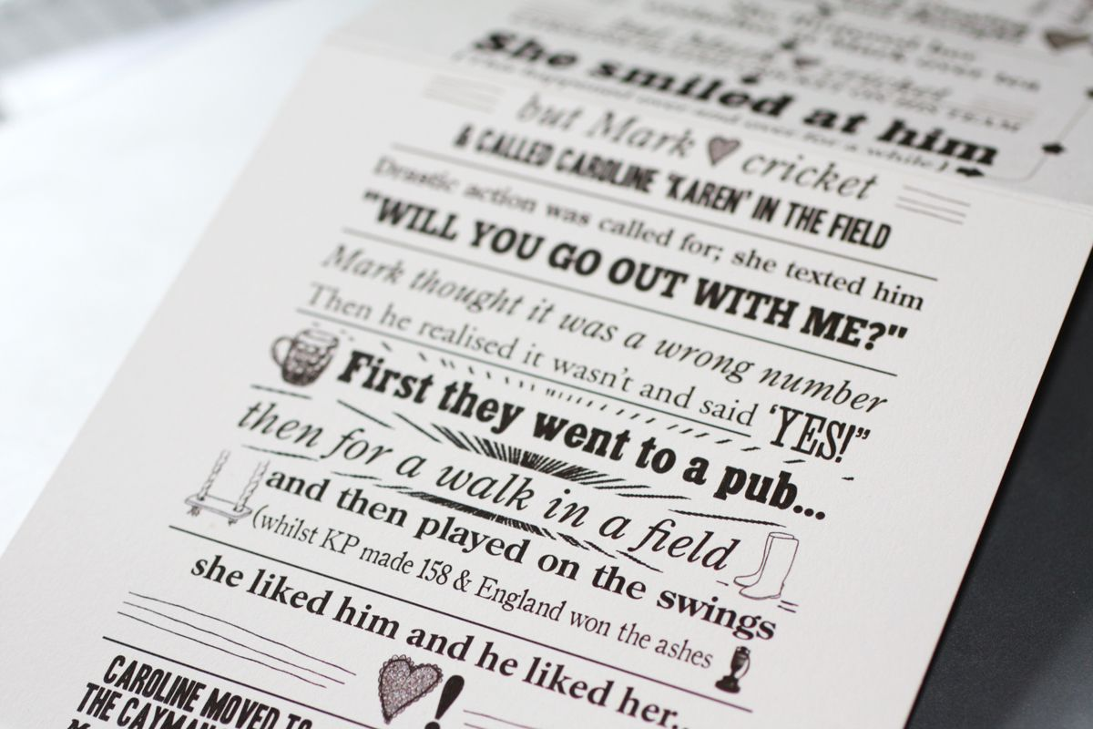 Humor Wedding Invitations: Wedding Invites That Tell The Bride And Grooms Story Will