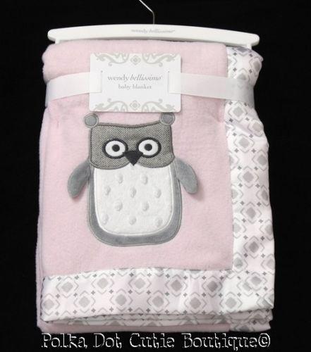 Best Nwt Wendy Bellissimo Pink Gray White Owl Minky Dot Girls 640 x 480