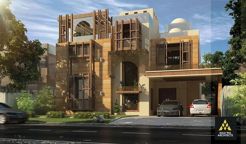 1 kanal house homes 3d traditional style architecture for Architecture design house in pakistan