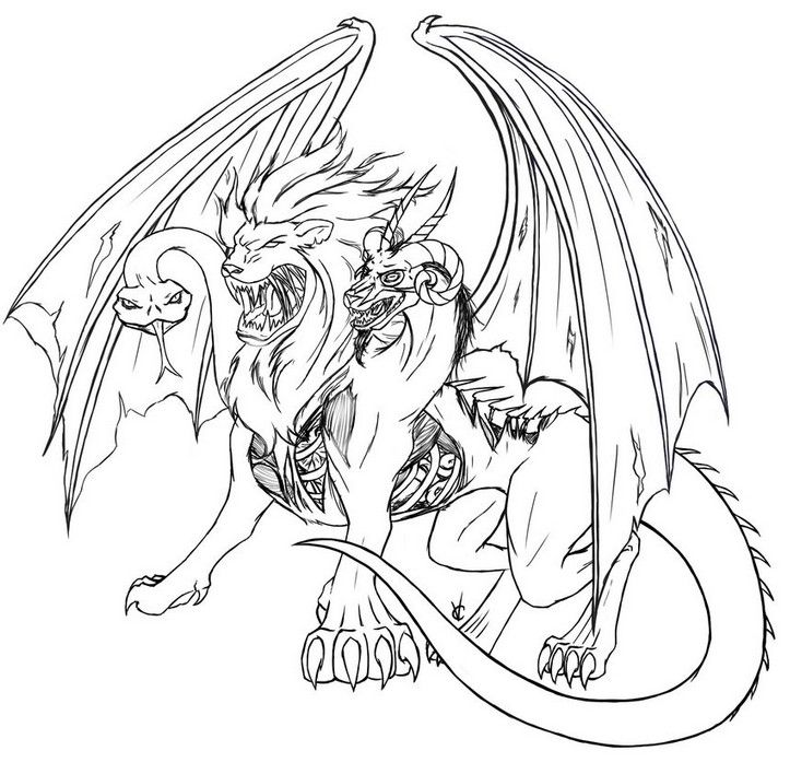 Desenho Para Colorir Animais Fantasticos Met Afbeeldingen