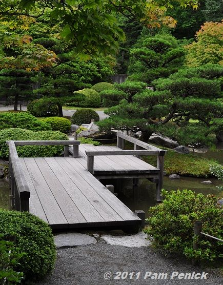 seattle japanese garden tranquil oasis in the city - Japanese Wooden Garden Bridge