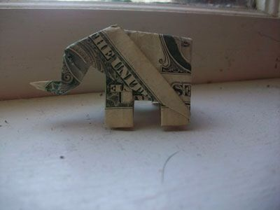 Dollar bill origami elephant - instructions at link … | Dollar bill origami,  Money origami tutorial, Origami elephant | 300x400