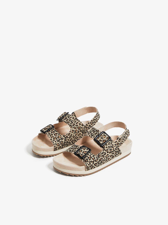 Image 3 Of Leopard Print Sandals From Zara Zapatos Niña Zara Zara Kids Zapatos Para Niñas