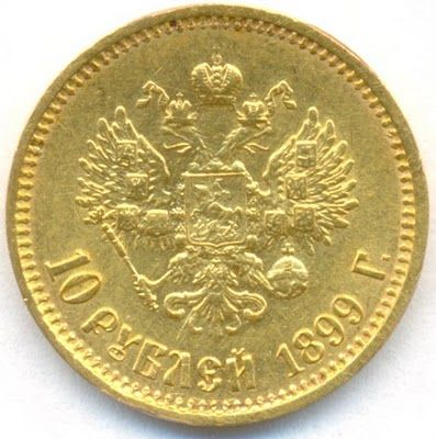 Russian Gold Coins 10 Roubles Of 1899 Nicholas Ii Gold Coins Coins Gold And Silver Coins