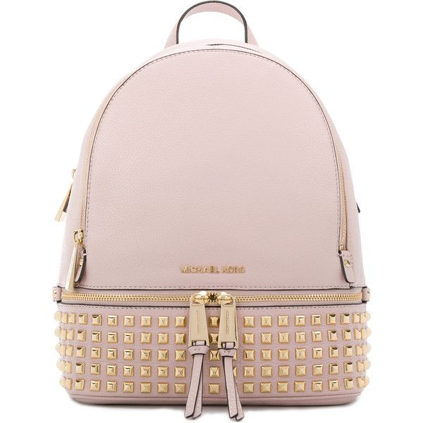 5903d8c02293 Michael Michael Kors Rhea studded backpack ( 407) ❤ liked on Polyvore  featuring bags
