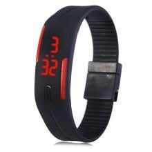 LED Watch Date Red Digital Rectangle Dial Rubber Band #smartwatches #smartwatch #watches #watch #tec...