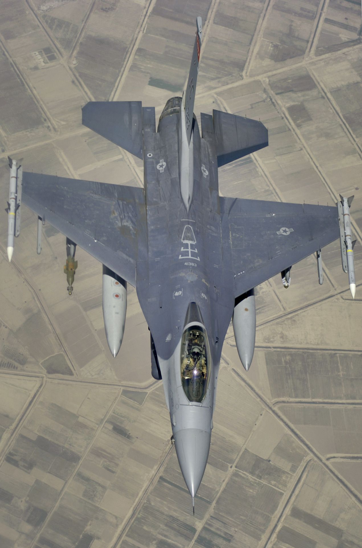 177thfw F 16c Fighting Falcon Over Central Iraq 14 May 2006 The Fighter Is Deployed To Balad Air Base Fighter Aircraft Airplane Fighter Military Aircraft