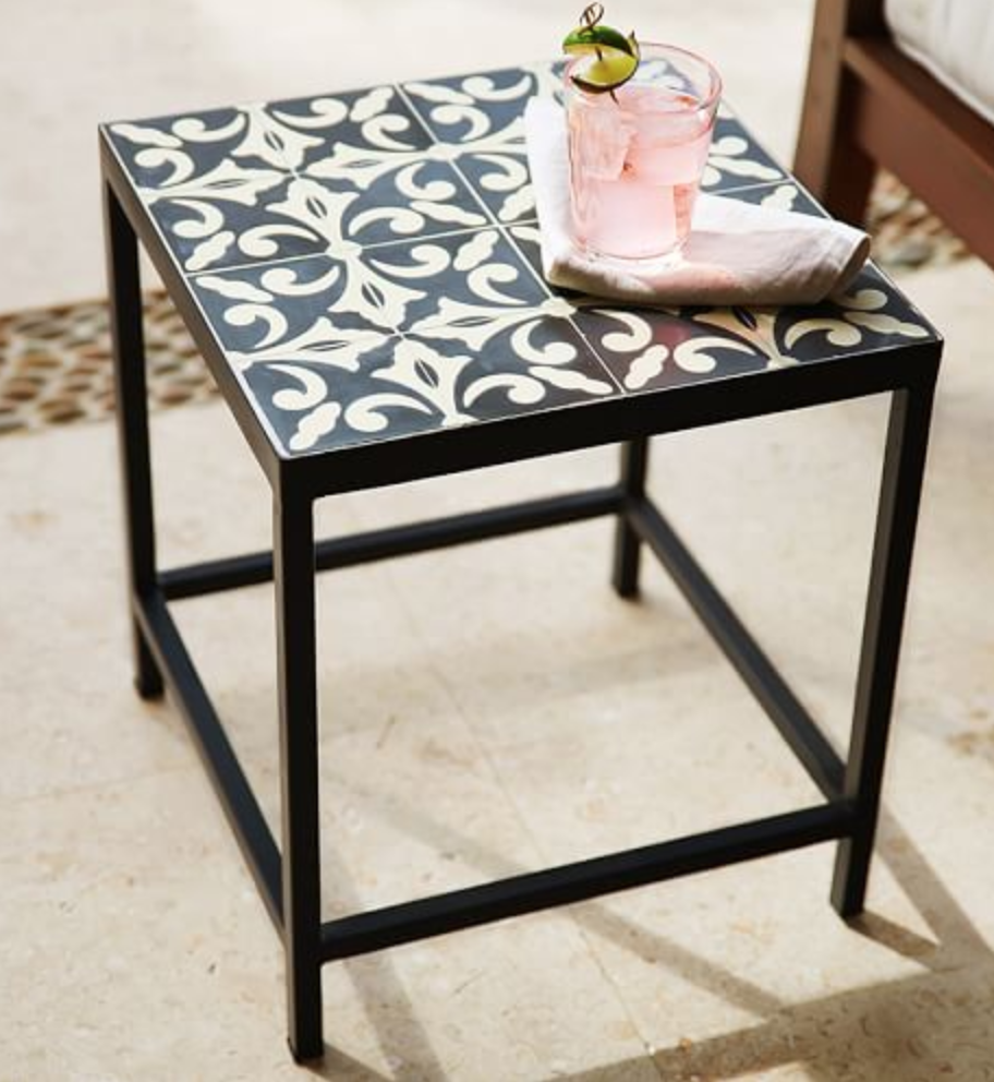 Square Tile Side Table Tile Top Tables Tile Tables Diy Table Top