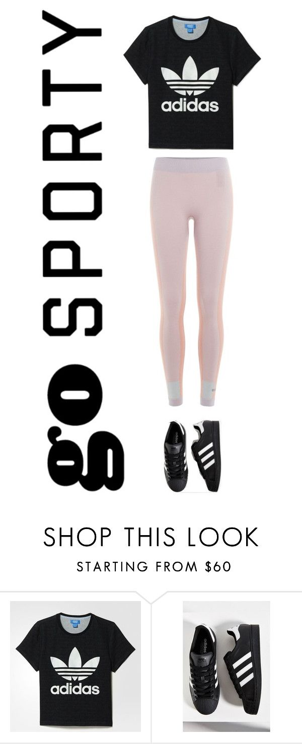 """""""Adidas"""" by beauteousraisie ❤ liked on Polyvore featuring adidas"""