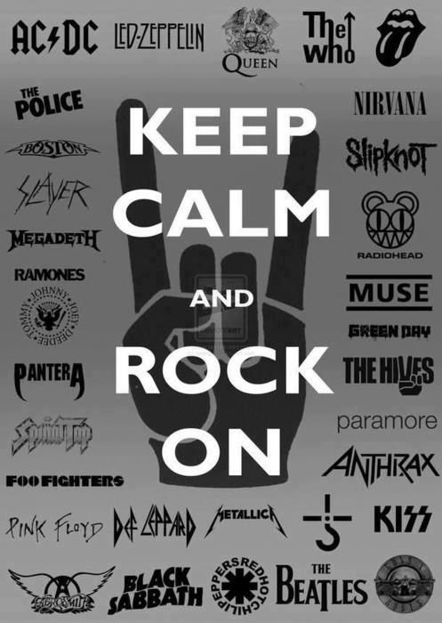 BEWARE Description Is Long Due To List Of Band Names Here The Keep Calm And Rock On Wallpaper Containing Over 100 Metal Logos