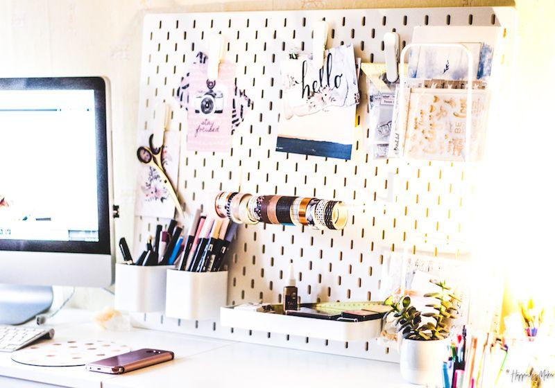haul d co panneau perfor ikea plantes grasses et tableau messages d coration. Black Bedroom Furniture Sets. Home Design Ideas