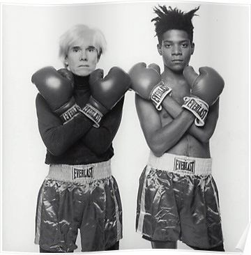 'Jean Michel Basquiat and Andy Warhol Boxing Tee' Poster by KingSwaidner #andywarhol