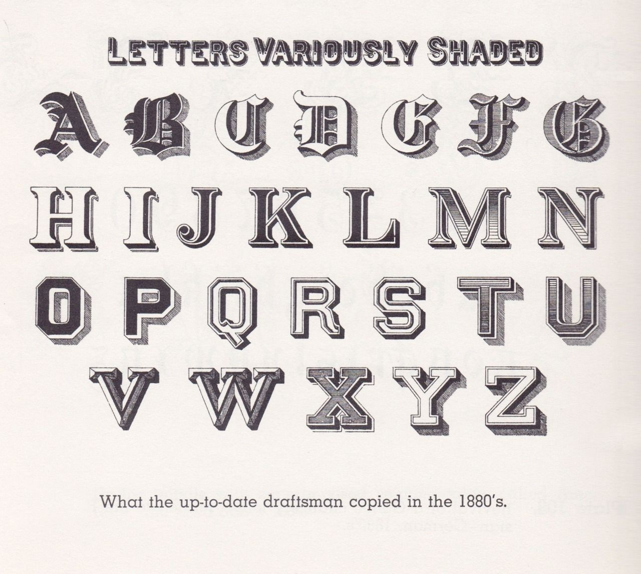 Letters Variously Shaded 12 Styles Of Letter Shading From