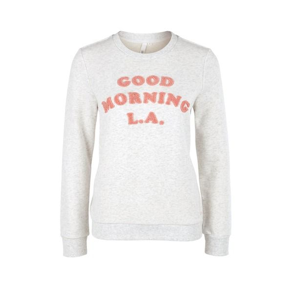 SOliver Sweatshirt Mit FrotteeWording Good Morning I LA I Los