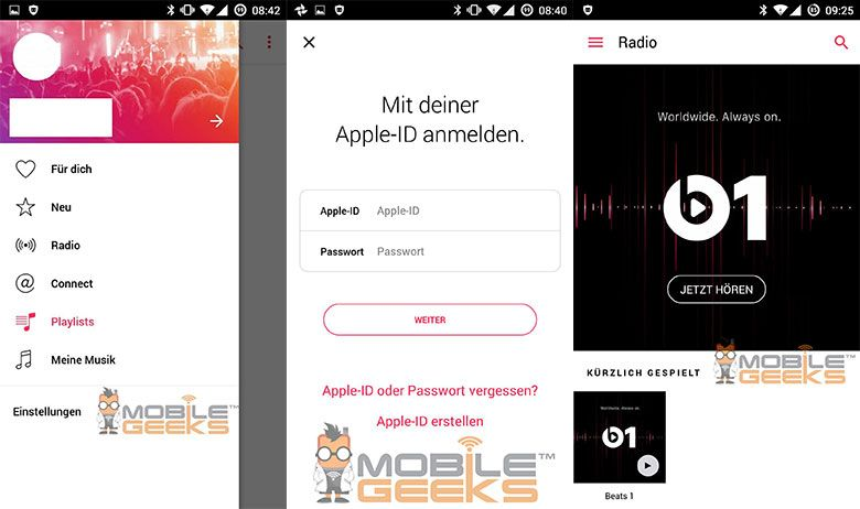 Screenshots of Apple Music for Android leaked out | Android