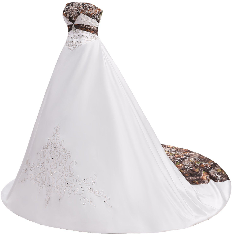 Milano bride gorgeous wedding dress for women camo ball gown