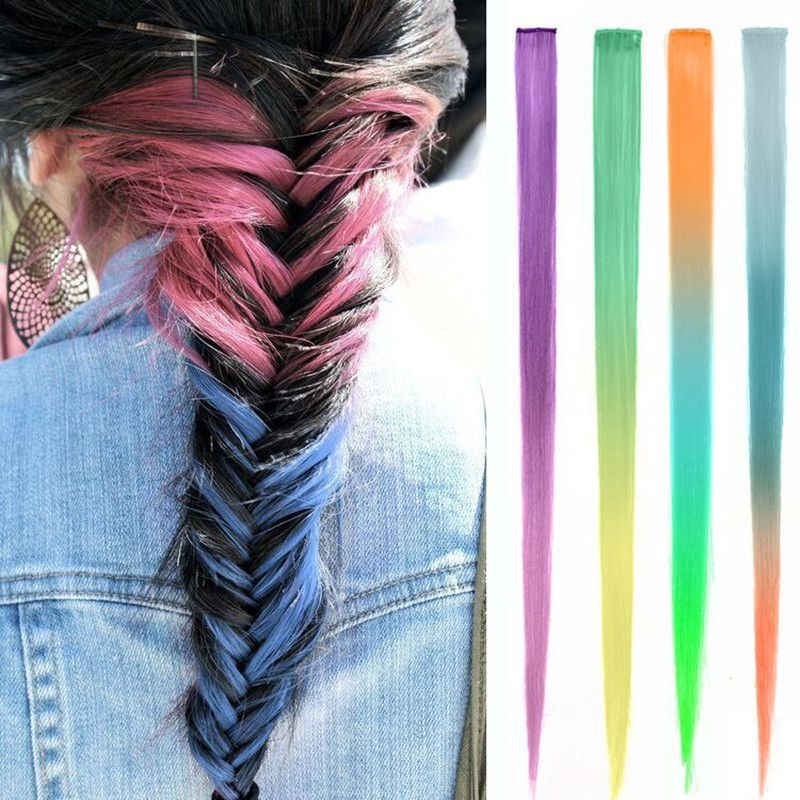1pcs 20inch 50cm New hair extension purchasing false hair high quality matte  outlet temperature of 1clip d2fe0f442a