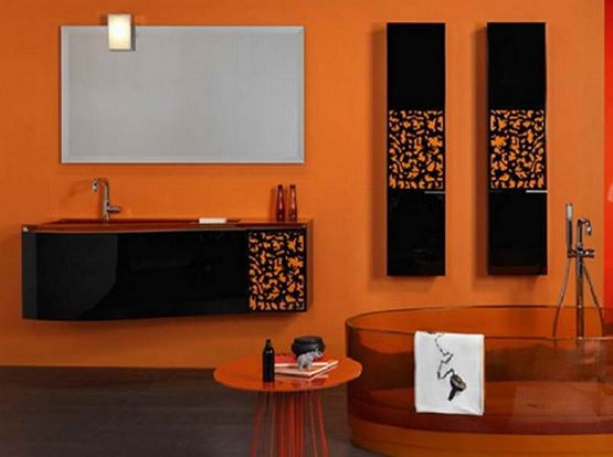 orange bathroom color schemes decolovernet