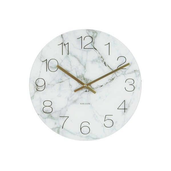 Whether You Want To Add A Touch Of Contemporary Flair To Your Walls Or You Need Help Keeping Track Of The Ti Marble Room Decor Wall Clock Glass Marble Bedroom