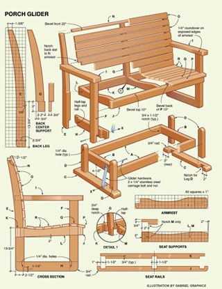Free Porch Glider Project Plans Woodworking Plans Porch Glider Plans Wood Plans