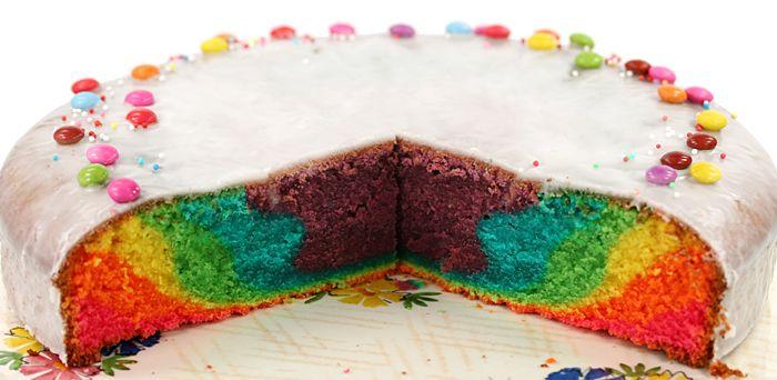 Regenbogenkuchen Kuchen Lustige Kuchen Bunter Kuchen