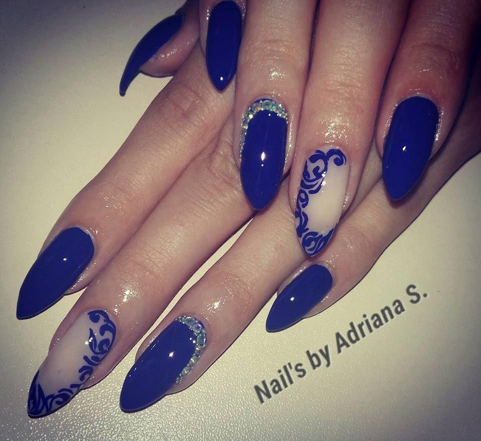Super Cute Blue Prom Nail Art