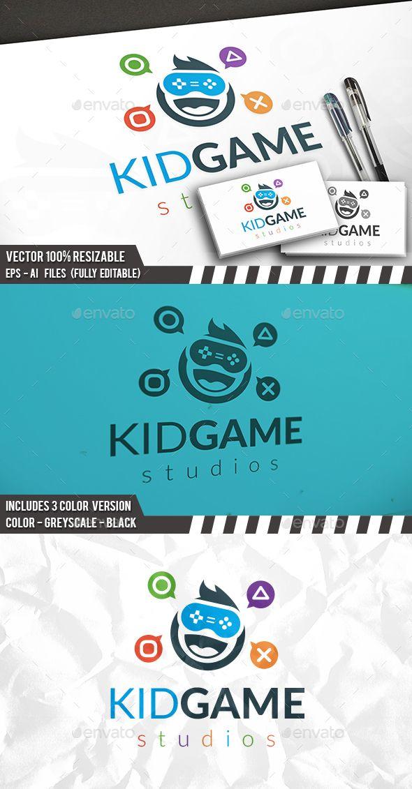 Kid Gamer Logo Template PSD, Vector EPS, AI. Download here: http://graphicriver.net/item/kid-gamer-logo-template/14484886?ref=ksioks