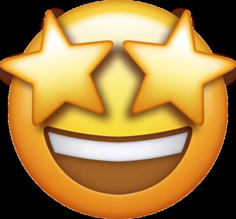 Star Eyes Emoji Eyes emoji, Emoji stickers, Star eyes