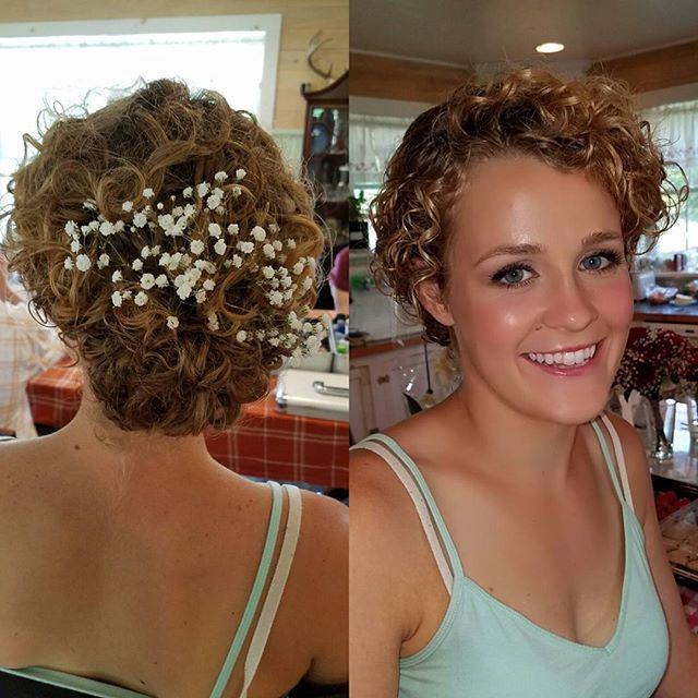 Bridal Makeup Wedding Hair Curly Updo Professional