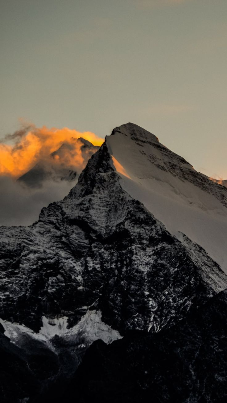 Himalaya Mountains Sunset Fire Iphone 6 Plus Wallpaper Iphone 6 Wallpaper Mountain Sunset Phone Wallpaper