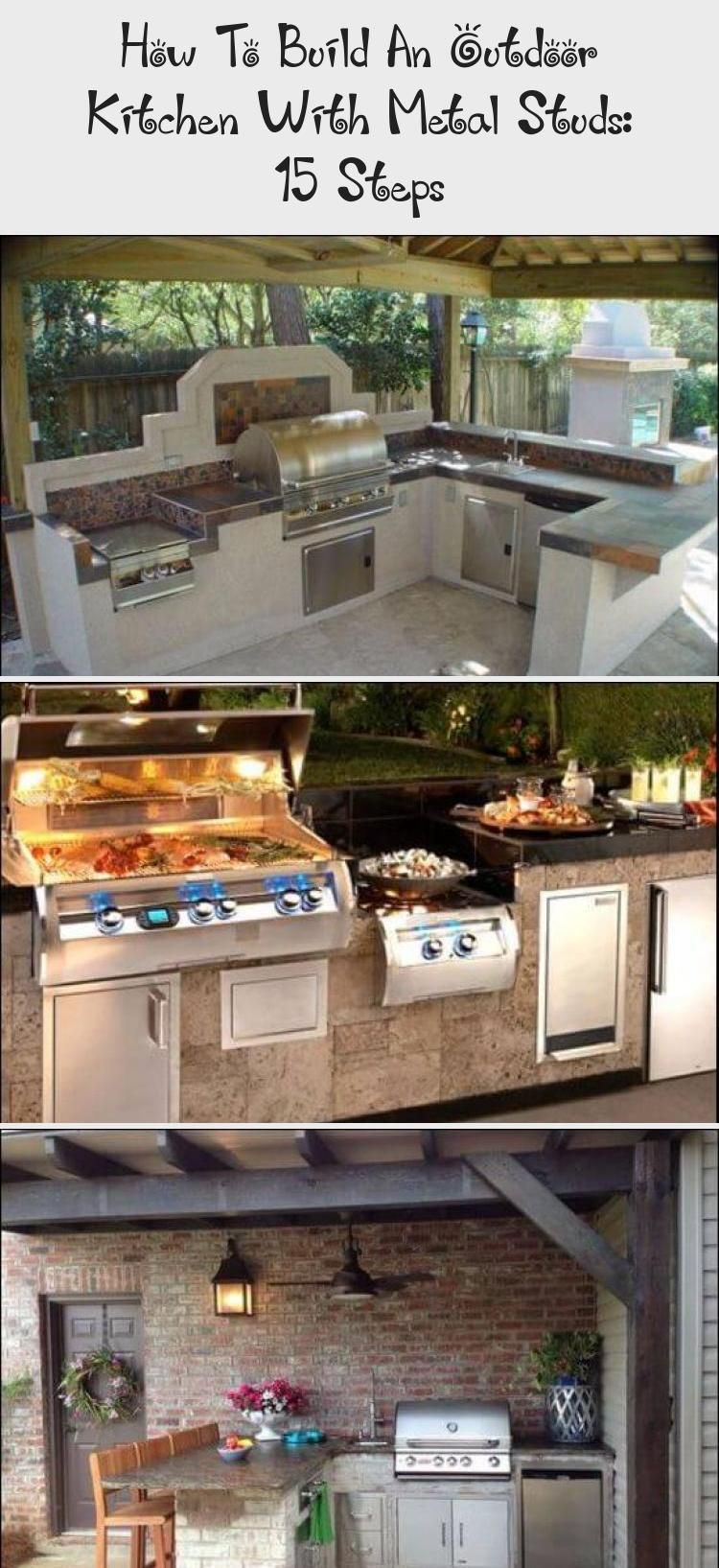 How To Build An Outdoor Kitchen With Metal Studs 15 Steps Build Outdoor Kitchen Outdoor Kitchen Countertops Concrete Projects