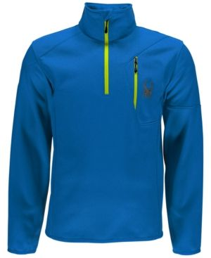 Spyder Outlaw Half-Zip Fleece Top - Blue XXL