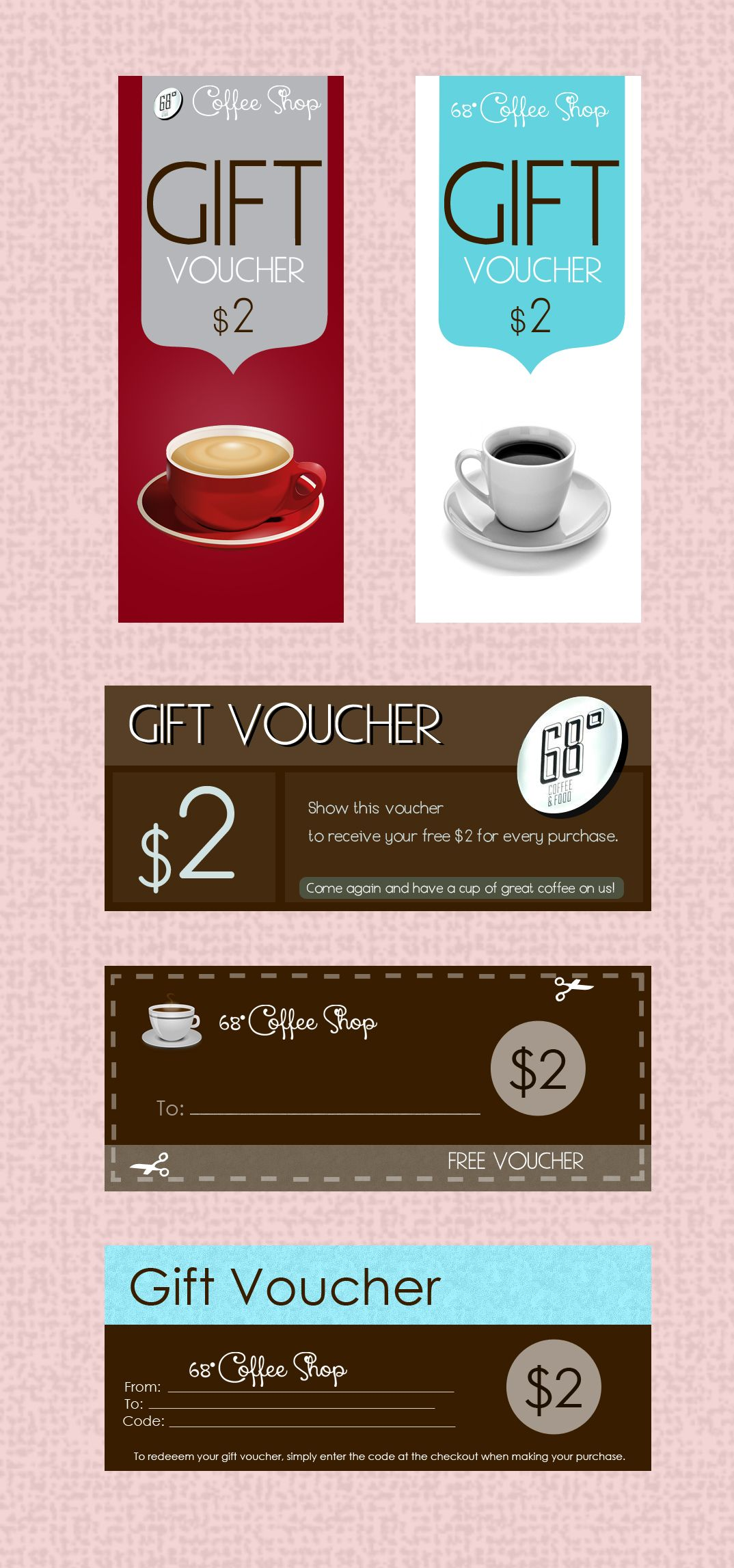 Sample Vouchers for 68Deg Coffee Shop voucher ideas – Sample Vouchers
