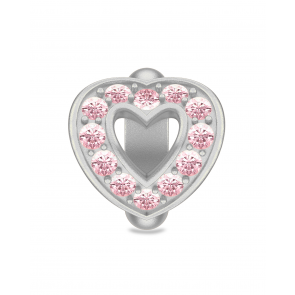 Pink Heart Love, Silver charm