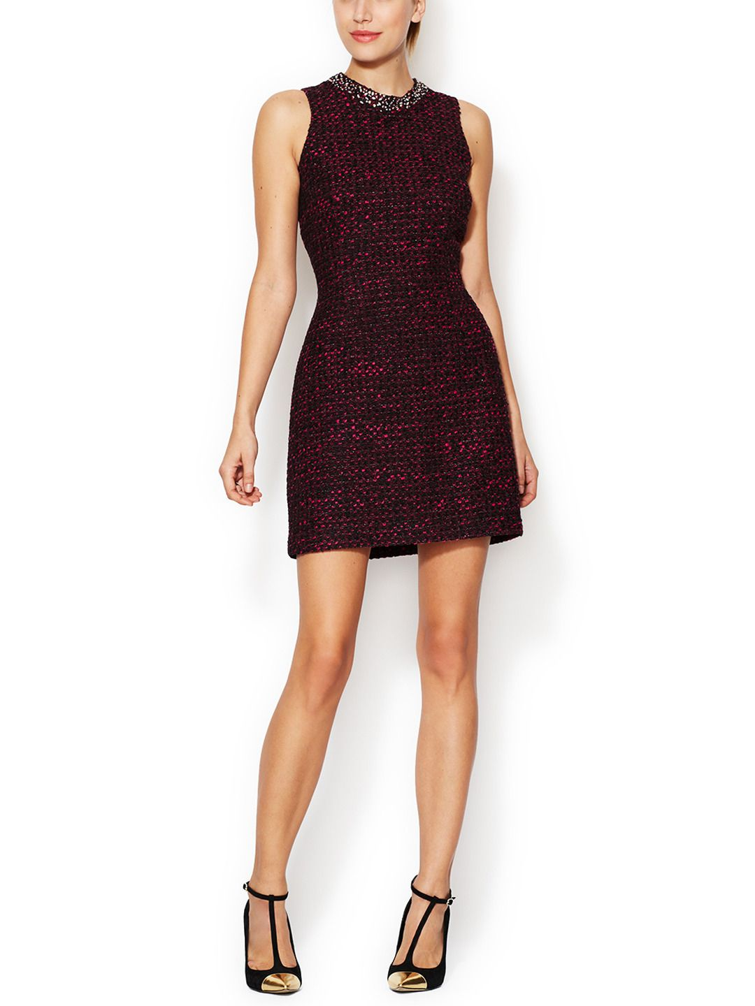 Jeweled Neck Sheath Dress by The Letter at Gilt