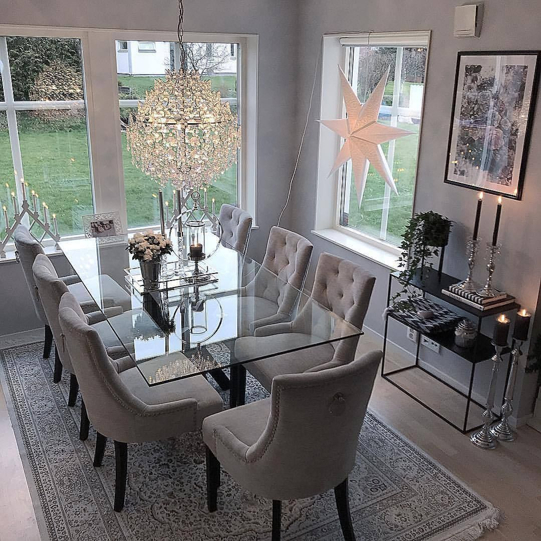 35 Luxury Dining Room Design Ideas: Interior & 📷 By: @homebyleno