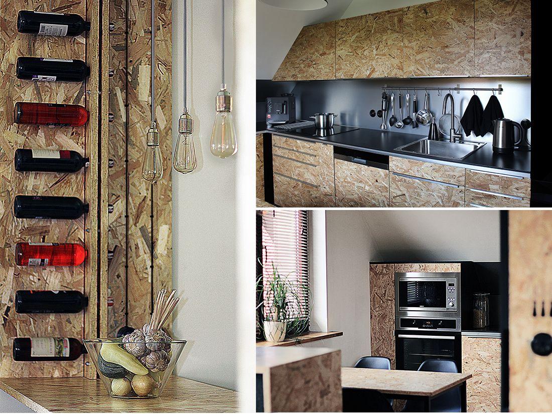 Kuchnia Z Osb Pln Design Osb Plywood Kitchen House Bathroom