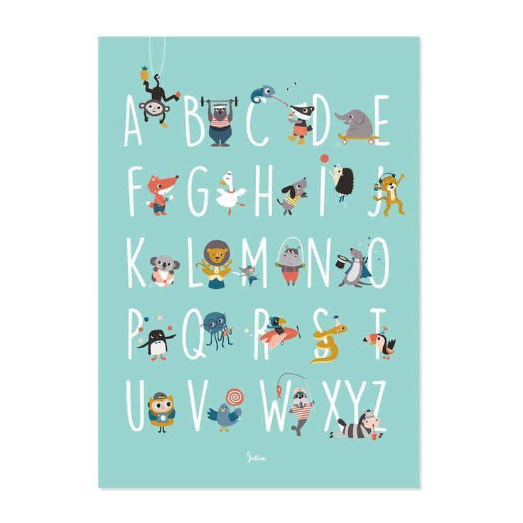 Geschenkidee zum Schulanfang ABC Poster für das