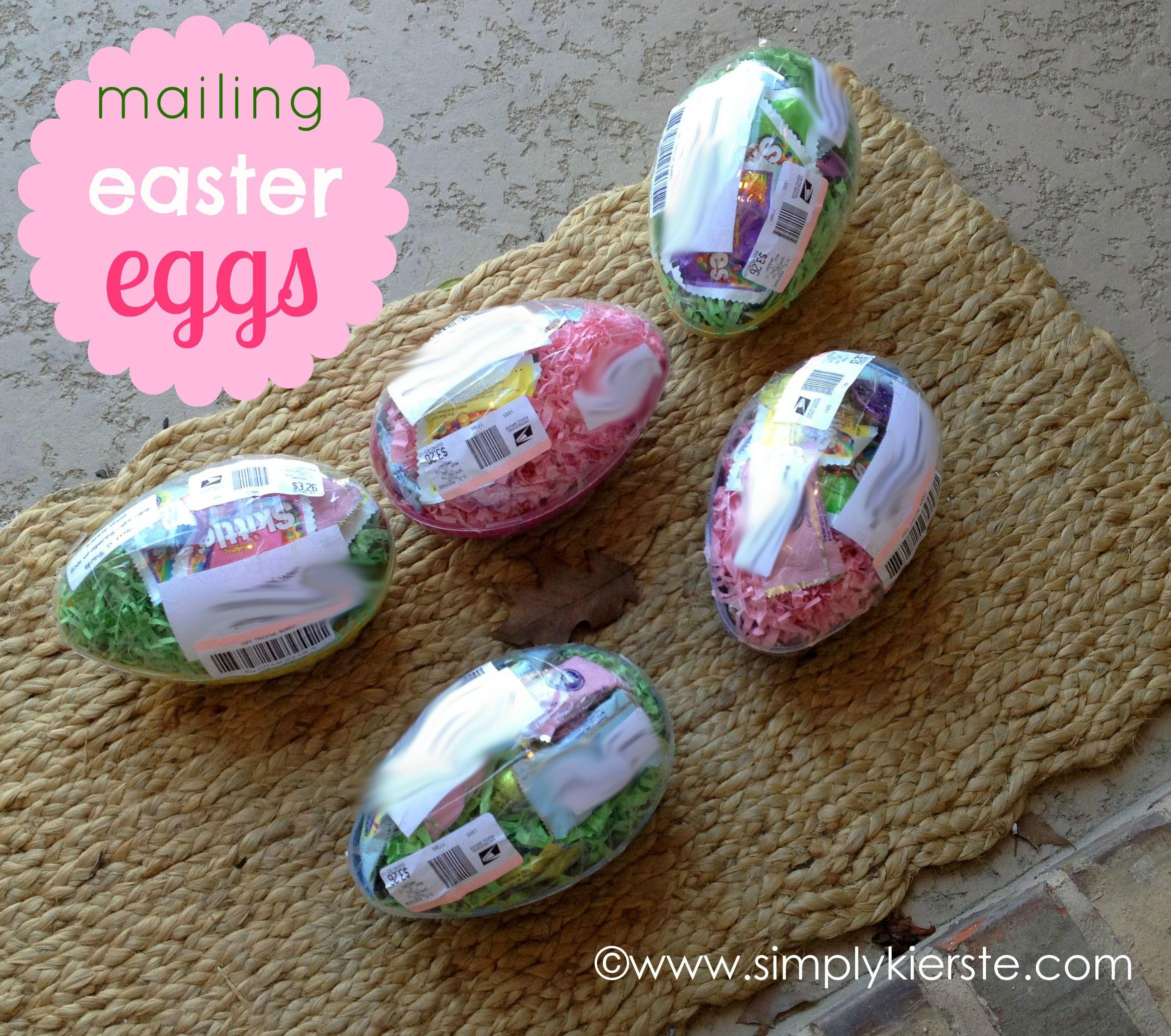 Mailing Plastic Easter Eggs  oldsaltfarm.com  Easter crafts