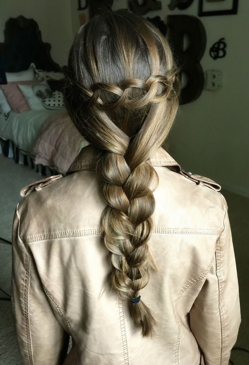 How to create a loop waterfall braid hairstyles ideas pinterest