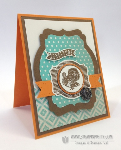 Stampin up harvest of thanks